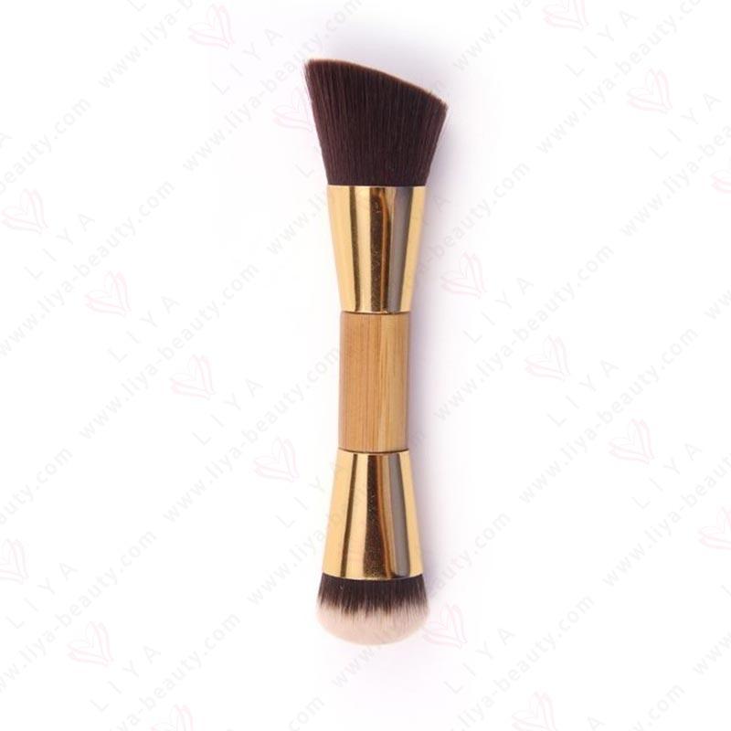 Double End Foundation Brush Wsi1419 Liya Beauty